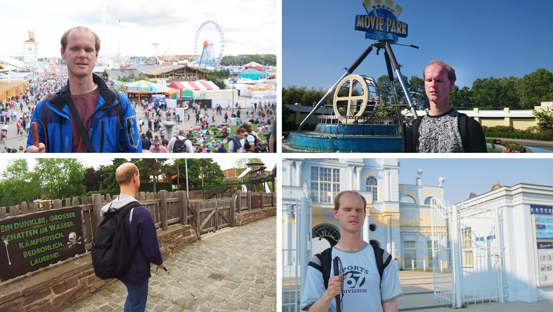 Collage verschiedener Bilder aus unseren Freizeitpark- und Kirmestests | Bild Copyright by Thomas Frank, Parkerlebnis.de